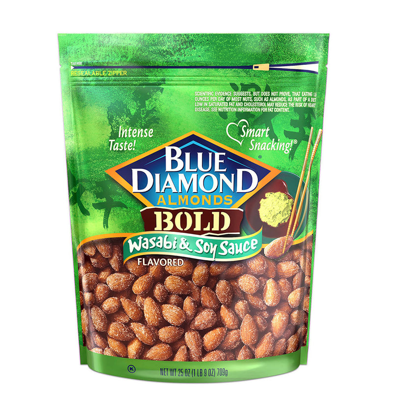 25oz Bag of Wasabi & Soy Sauce Almonds