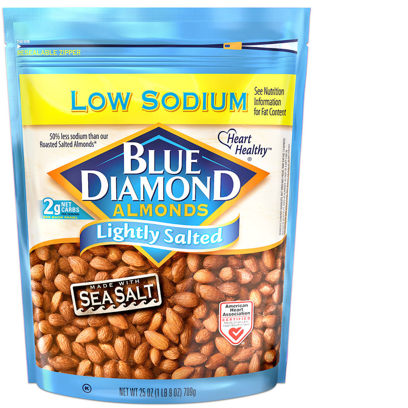 25oz Bag of Lightly Salted Low Sodium Almonds