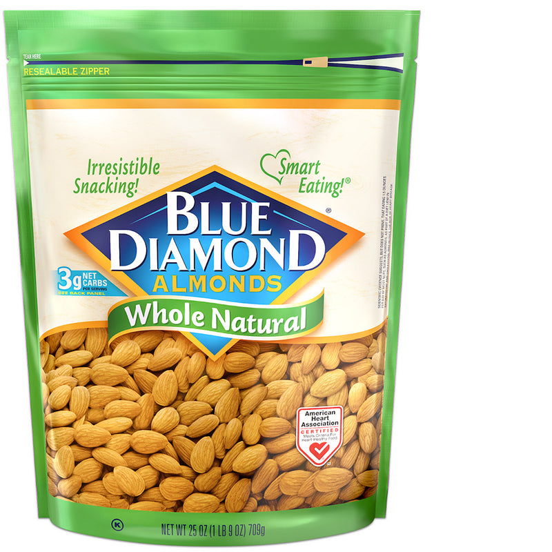 25oz Bag of Whole Natural Almonds