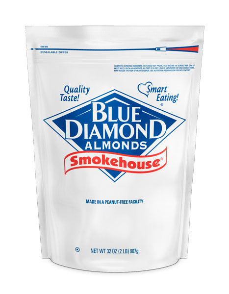 Smokehouse® Almonds, 2lb Bag, Case of 4