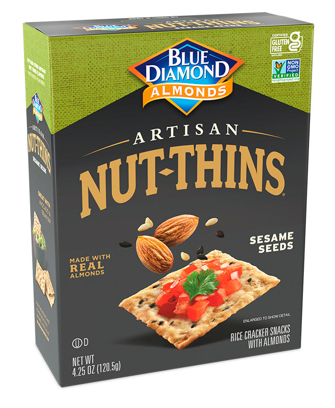 Sesame Seed Artisan Nut-Thins Crackers, Case of 12