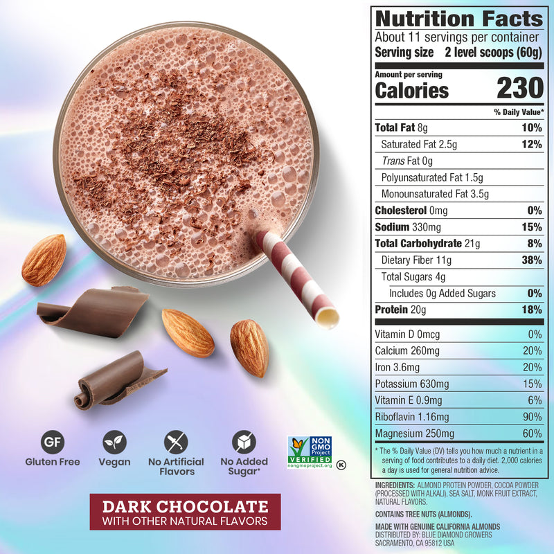 Dark Chocolate Almond Protein Powder