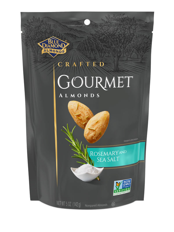 Gourmet Almonds, Rosemary and Sea Salt, 5oz Bags