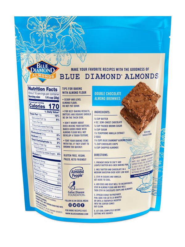 Back of 1lb Bag of Almond Flour