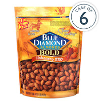 Habanero BBQ Almonds, 16oz Bags, Case