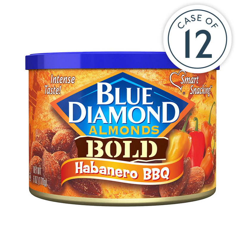 Habanero BBQ Almonds, 6oz Cans, Case