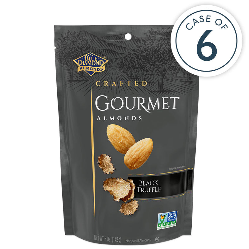 Case of 6, 5oz Bags of Black Truffle Gourmet Almonds