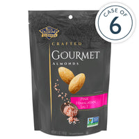Case of 6, 5oz Bags of Pink Himalayan Salt Gourmet Almonds