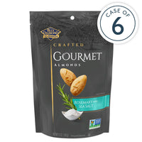 Case of 6, 5oz Bags of Rosemary and Sea Salt Gourmet Almonds