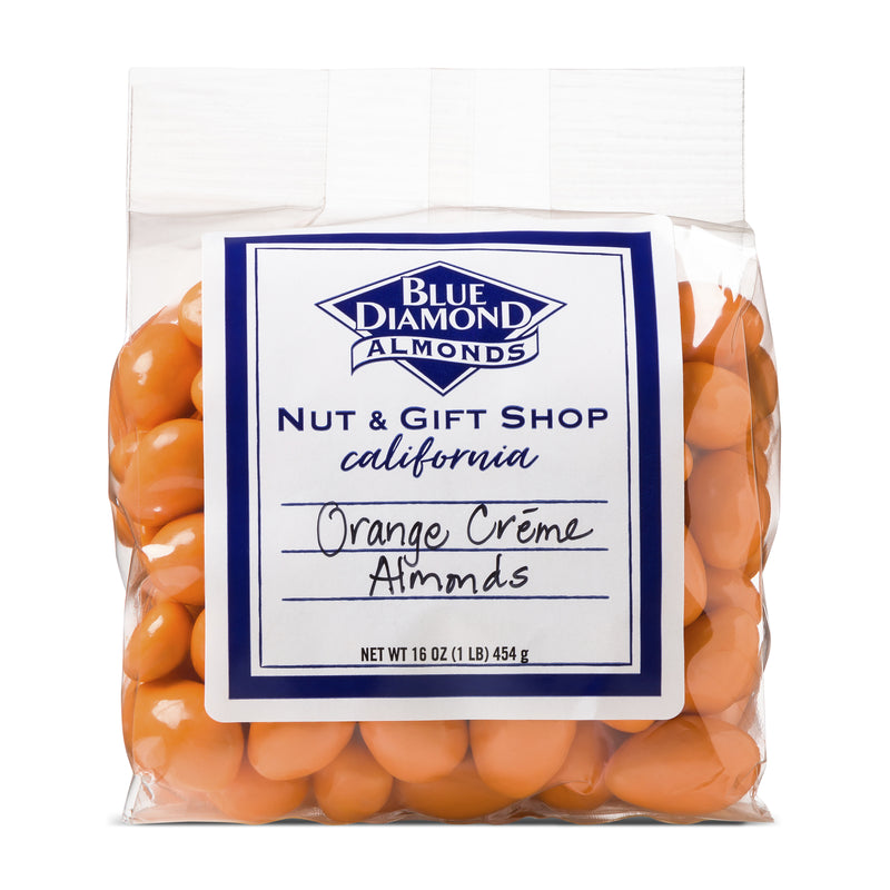 Bag of Orange Crème Covered Almonds