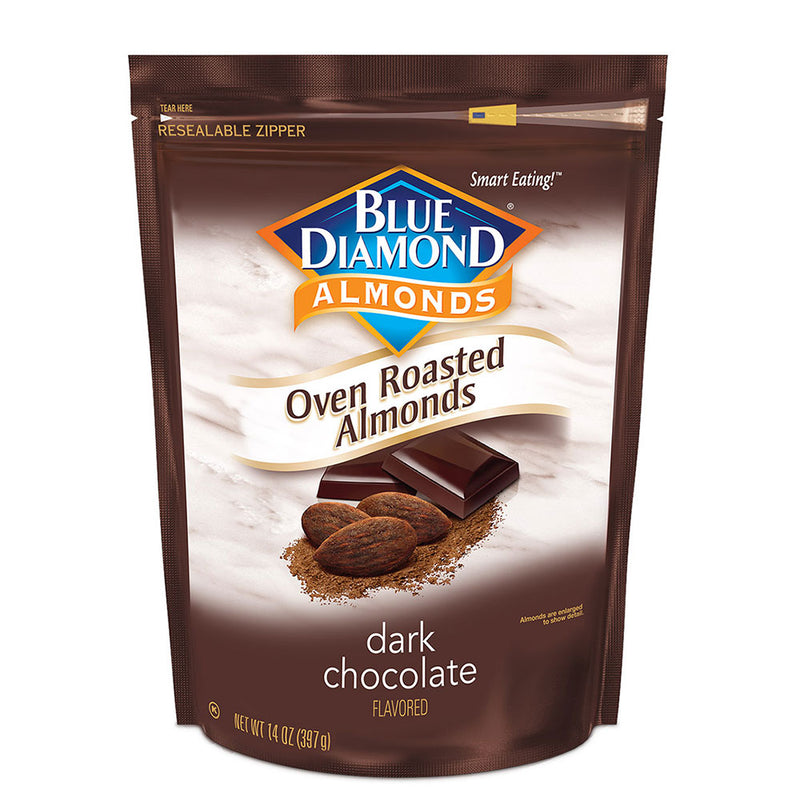 14oz Bag of Oven Roasted Dark Chocolate Almonds