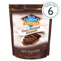 25oz Bag of Oven Roasted Dark Chocolate Almonds in a case of 6