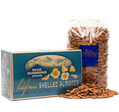 Five Pounds of Whole Natural Almonds in classic retro-style gift box