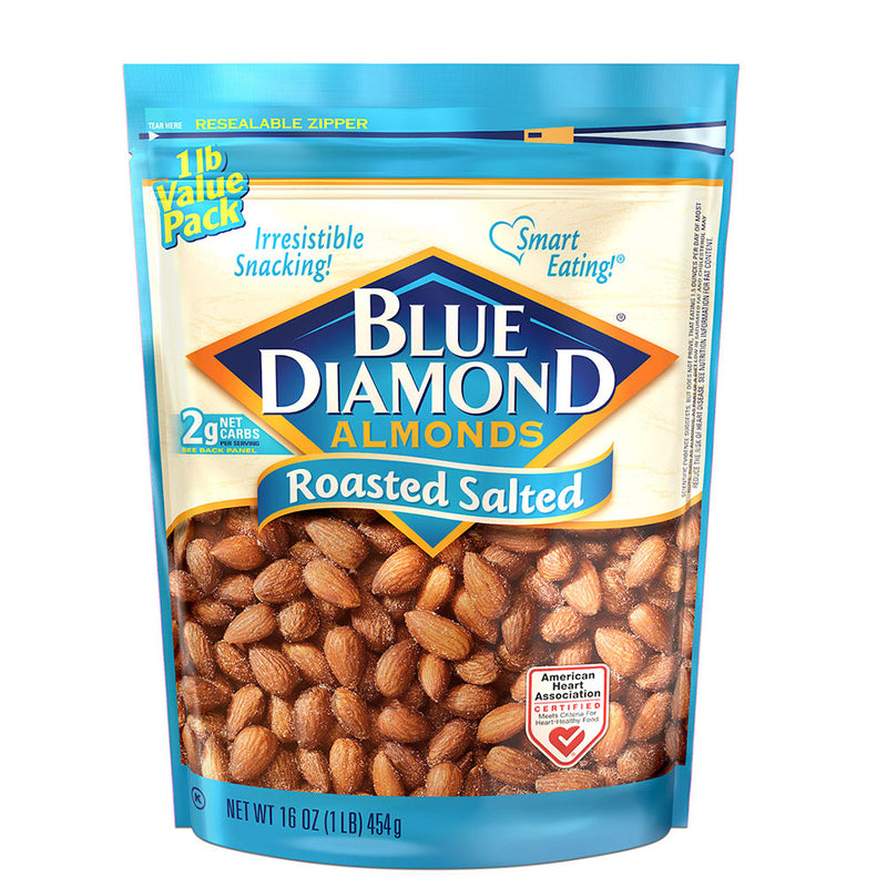 16oz Bag of Roasted Salted Almonds
