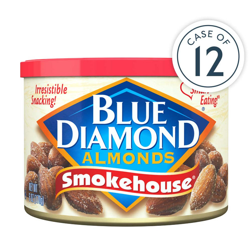 Case of 12, 6oz cans of Smokehouse® Almonds
