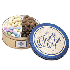 Thank You Gift: Premium Candied Almond Nuts Tin