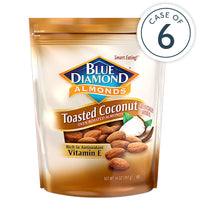 Case of 6, 14oz Bags of Toasted Coconut Almonds