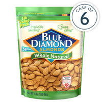 Case of 6, 16oz Bags of Whole Natural Almonds