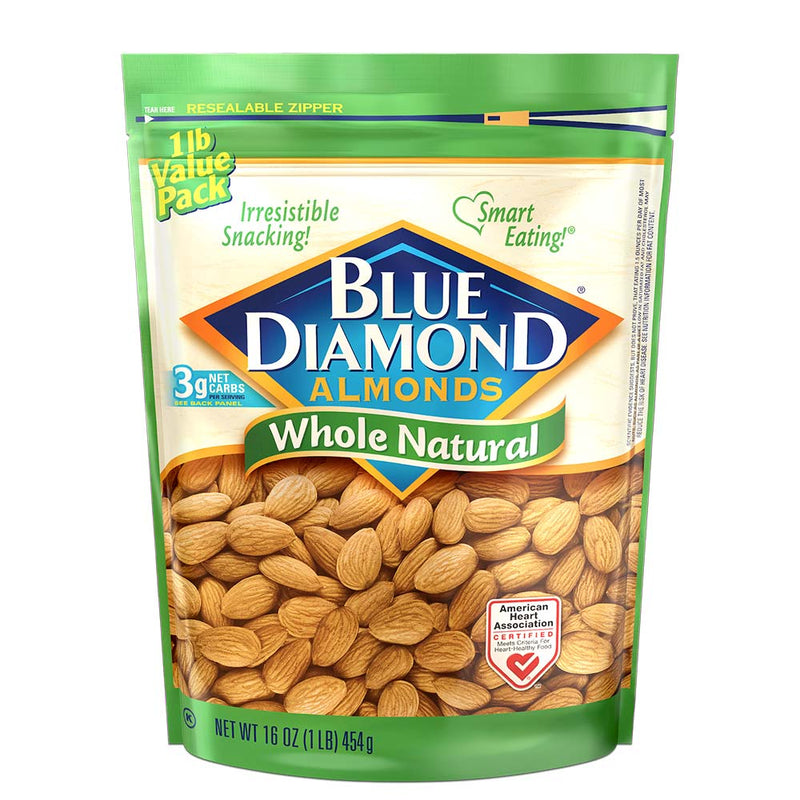 16oz Bag of Whole Natural Almonds
