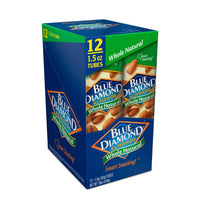 Caddie of 12, 1.5oz Tubes of Whole Natural Almonds