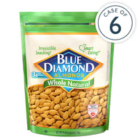 Case of 6, 25oz Bags of Whole Natural Almonds