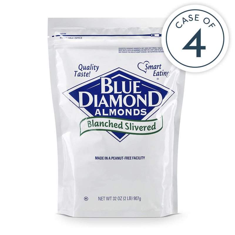 Case of 4, Blanched Slivered Almonds