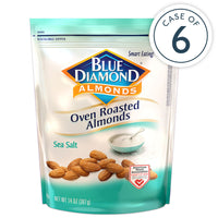14oz Bag of Oven Roasted Sea Salt Almonds in a case of 6