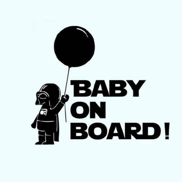 Baby on board car sticker shop4starwars