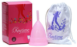 Anytime Reusable Menstrual Cup Size 2 for Women Above Age of 30 Years (Best Alternative to Sanitary Pads)