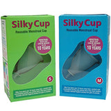 Silky Cup Reusable Menstrual Cup (Sanitary Napkins and Tampons Alternative) Reusable upto 10 years - S + M (Pack of 2 Sizes)