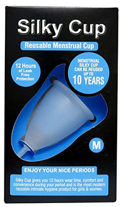 Silky Cup - Reusable Menstrual Cup for Women - Medium (Age upto 30 years)
