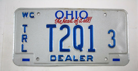 Vintage 1993 Original OHIO Watercraft Trailer Dealer License Plate T2Q1 3
