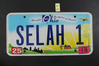 2011 OHIO License Plate SELAH-1 2015 Sticker (O-57