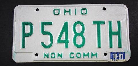 1985 Vintage Original Pair of Ohio Non Commercial Truck License Plates P548TH