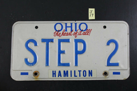 Vintage 1991 OHIO License Plate STEP 2 J17