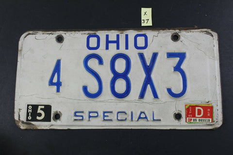 Vintage 1985 OHIO SPECIAL License Plate 4-S8X3  (X37)