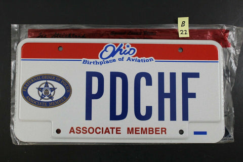 2004 OHIO License Plate PDCHF Fraternal Order Police Associate Member (B22