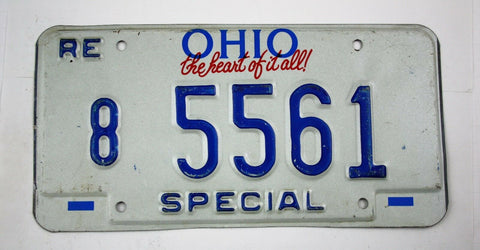 Vintage 1992 Original OHIO Replacement Special Dealer License Plate 8 5561