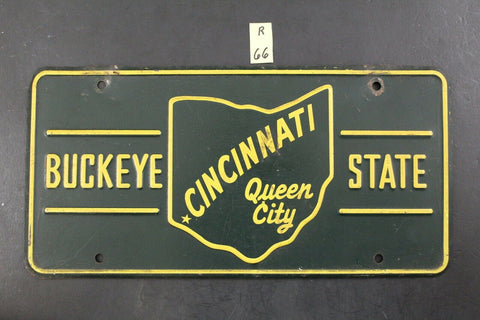 1953 Cincinnati OHIO Sesqui-Centennial Booster License Plate Queen City R66