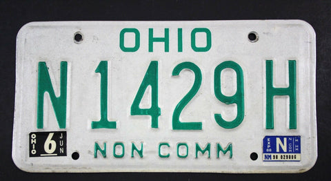 Vintage 1980 Base Original OHIO Non Commercial Truck License Plate N1429H