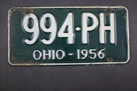 1958 Vintage Original Ohio License Plate 994-PH