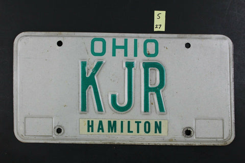 1985 Original Vintage Ohio License Plate KJR VANITY S27