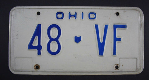 1980 Original Vintage Ohio License Plate 48-VF