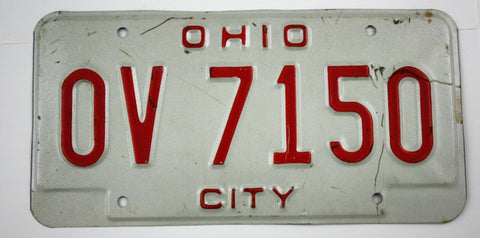 Vintage 1993 Original OHIO City License Plate OV 7150