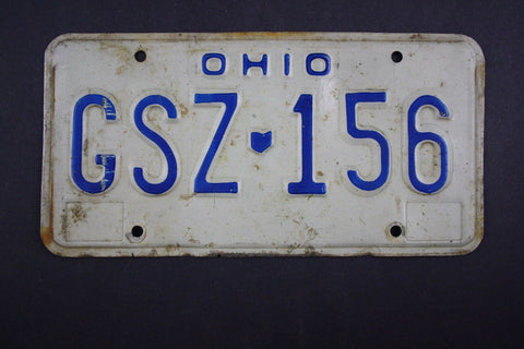 1981 Vintage Original Ohio License Plate GSZ-156