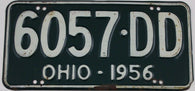 1956 Vintage Original Ohio License Plates  6057-DD