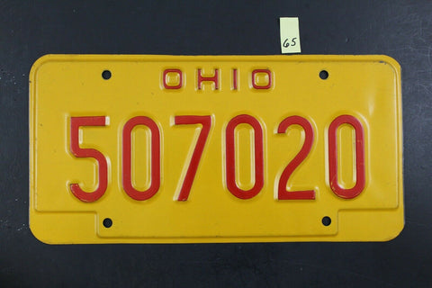 1993 OHIO Family OVI License Plate 507020 Operating Vehicle Intoxicated (O-65