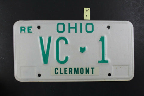 Vintage 1980 OHIO License Plate VC-1 REISSUE (P-1