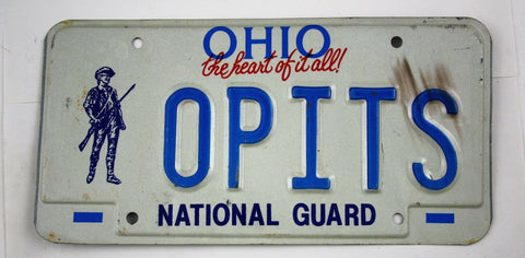 Vintage 1991 Original OHIO National Guard License Plate OPITS
