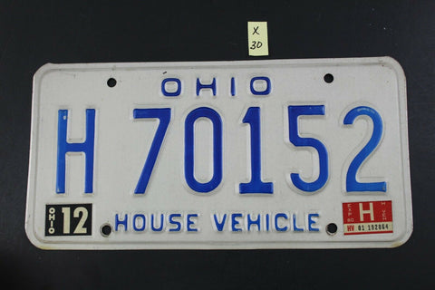 Vintage 1980 OHIO HOUSE VEHICLE License Plate H-70152  (X30)